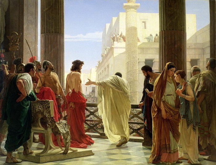 «Се человек». Пилат представляет Иисуса из Назарета жителям Иерусалима. Худ. Антонио Чизери